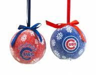 Chicago Cubs LED Boxed Ornament Set