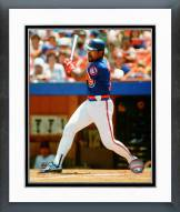 Chicago Cubs Leon Durham Batting Framed Photo