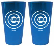 Chicago Cubs Lusterware Pint Glass - Set of 2