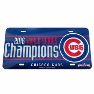 Chicago Cubs Metal License Plate