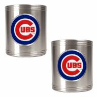 Chicago Cubs MLB Stainless Steel Can Holder 2-Piece Set