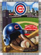 Chicago Cubs MLB Woven Tapestry Throw Blanket