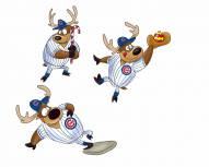 Chicago Cubs Reindeer Ornaments