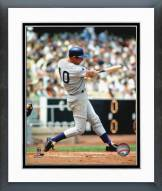 Chicago Cubs Ron Santo Batting Action Framed Photo