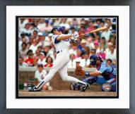 Chicago Cubs Ryne Sandberg 1990 Batting Action Framed Photo