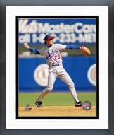 Chicago Cubs Ryne Sandberg Action Framed Photo