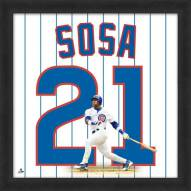 Chicago Cubs Sammy Sosa Uniframe Framed Jersey Photo
