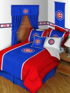 Chicago Cubs Sidelines Bed Comforter