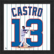 Chicago Cubs Starlin Castro Uniframe Framed Jersey Photo