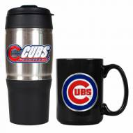 Chicago Cubs Travel Tumbler & Coffee Mug Set