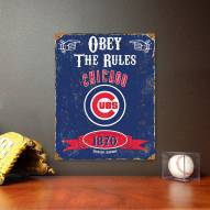 Chicago Cubs Vintage Metal Sign