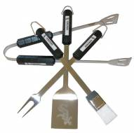 Chicago White Sox 4-Piece Stainless Steel BBQ Set