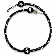 Chicago White Sox Frozen Rope Color Baseball Necklace