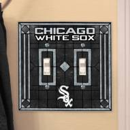 Chicago White Sox Glass Double Switch Plate Cover