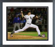 Chicago White Sox Jake Petricka 2014 Action Framed Photo