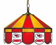"Kansas City Chiefs NFL Team 16"" Diameter Stained Glass Pub Light"