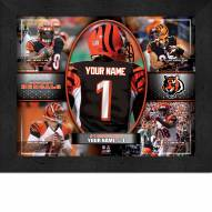 Cincinatti Bengals Personalized Framed Action Collage