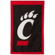 "Cincinnati Bearcats 28"" x 44"" Double Sided Applique Flag"