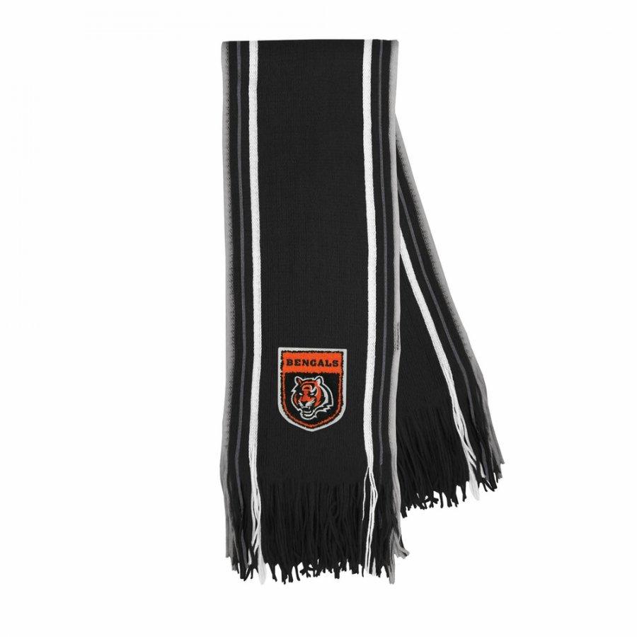 Cincinnati Bengals Crest Stripe Fringe Scarf