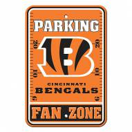 Cincinnati Bengals Fan Zone Parking Sign