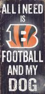 Cincinnati Bengals Football & Dog Wood Sign