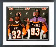 Cincinnati Bengals Jeremy Hill & Will Clarke 2014 Press Conference Framed Photo