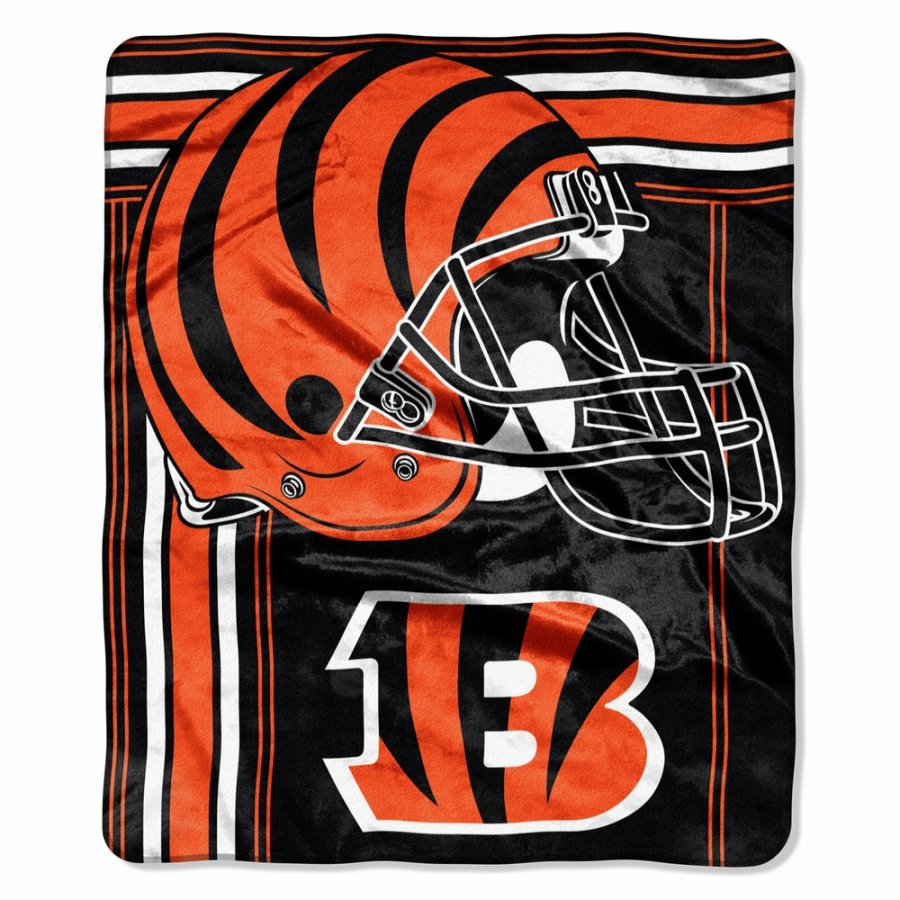Cincinnati Bengals Touchback Raschel Throw Blanket