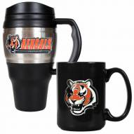 Cincinnati Bengals Travel Mug & Coffee Mug Set