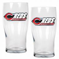 Cincinnati Reds 20 oz. Pub Glass - Set of 2