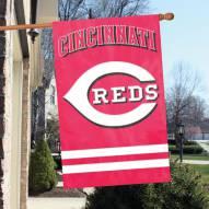 Cincinnati Reds Appliqué 2-Sided Banner Flag