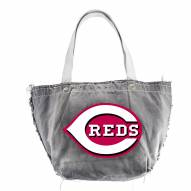 Cincinnati Reds Black MLB Vintage Tote Bag