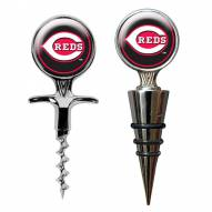 Cincinnati Reds Cork Screw & Wine Bottle Topper Set