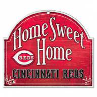 Cincinnati Reds Home Sweet Home Arched Wood Sign