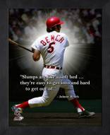 Cincinnati Reds Johnny Bench Framed Pro Quote