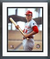 Cincinnati Reds Johnny Bench With bat Framed Photo