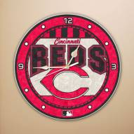Cincinnati Reds MLB Stained Glass Wall Clock
