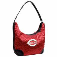 Cincinnati Reds Quilted Hobo Handbag