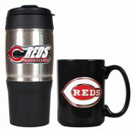 Cincinnati Reds Travel Tumbler & Coffee Mug Set