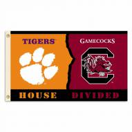Clemson/South Carolina 3' x 5' House Divided Flag