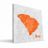 "Clemson Tigers 12"""" x 12"""" Home Canvas Print"