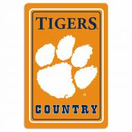 "Clemson Tigers 12"" x 18"" Metal Sign"