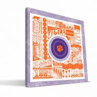 "Clemson Tigers 16"""" x 16"""" Pictograph Canvas Print"