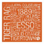 "Clemson Tigers 18"" x 18"" Canvas Subway Art"