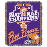 Clemson Tigers 2016/17 College Football National Champions Blanket