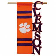 "Clemson Tigers 28"" x 44"" Applique Flag"