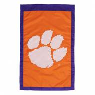 "Clemson Tigers 28"" x 44"" Double Sided Applique Flag"