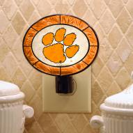 Clemson Tigers Art Glass Night Light