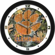 Clemson Tigers Camo Wall Clock