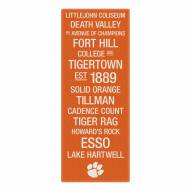 Clemson Tigers Canvas Color Subway Art