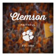 Clemson Tigers Canvas Logo Art